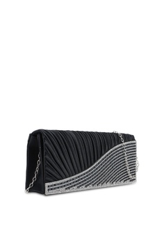 c733cf56b9 25% OFF Unisa Pleated Dinner Clutch With Glittering Stones   Crystal  Embellishment RM 89.00 NOW RM 66.75 Sizes One Size