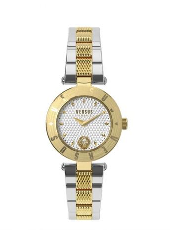 Versus gold Versus New Logo VES77090017 Two Tone IP Gold Stainless Steel Bracelet Ladies Watch VE464AC20TLFMY_1