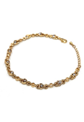 midzone gold TYON Korea Shinny Rhinestone Crystal Alloy Bracelet MI949AC0RQKLMY_1