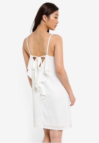 ZALORA white Ribbon Back Dress 689AAAA1548ED0GS_1