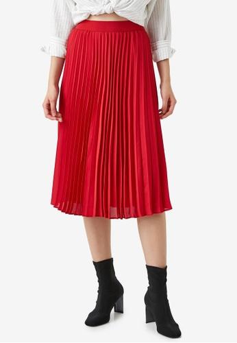 KOTON red Casual Skirt EDCCEAAAF40B3EGS_1