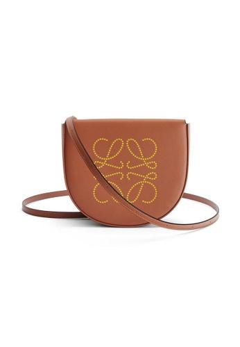 LOEWE brown Loewe Heel Crossbody Bag in Tan/Ochre AC18DACFB8D7E1GS_1