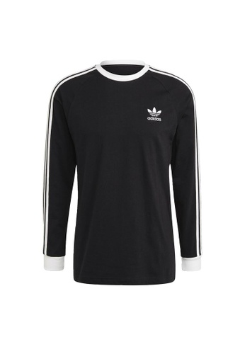 ADIDAS black adidas Originals Adicolor Classics 3-Stripes Long Sleeve Tee E45ADAA1B9BA22GS_1