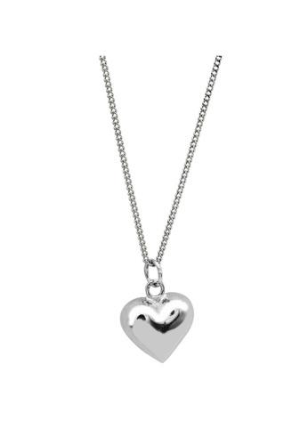 LYCKA silver LDR1236 S925 Silver Retro Heart Necklace 36794AC7C93E5EGS_1