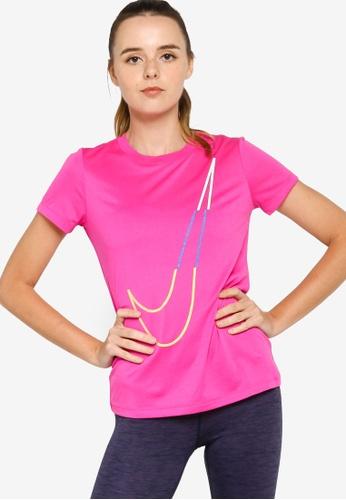 Nike pink Women's Dri-FIT Icon Clash Training T-Shirt 7FC7BAA5E42E86GS_1