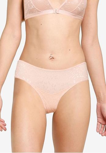 Les Girls Les Boys pink Snake Lace Mini Briefs F8F02US9B65251GS_1