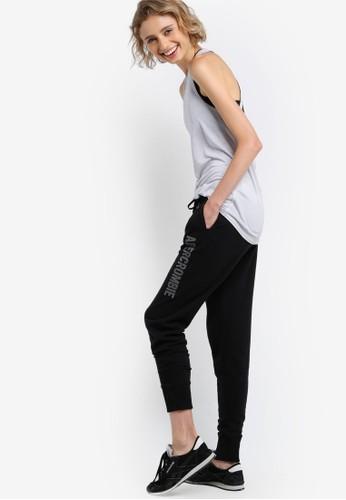 Cesprit 台灣官網ore 品牌文字抽繩慢跑褲, 服飾, 服飾