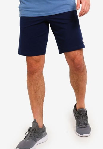Under Armour blue and navy Sportstyle Cotton Shorts 5E89DAA12FD25CGS_1