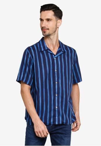 Banana Republic blue Camp Paint Stripe Shirt CDE8AAADD19B35GS_1
