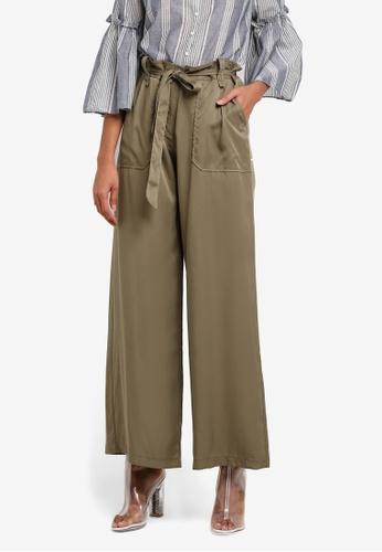 Max Studio green Ladies Woven Pants MA703AA0SAUDMY_1