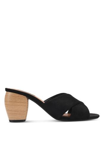 ZALORA black Wooden Block Detail Heels B68C5SH9281692GS_1
