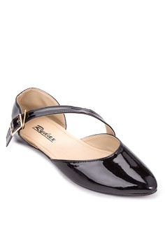 Ankle Strap Pointed Flats