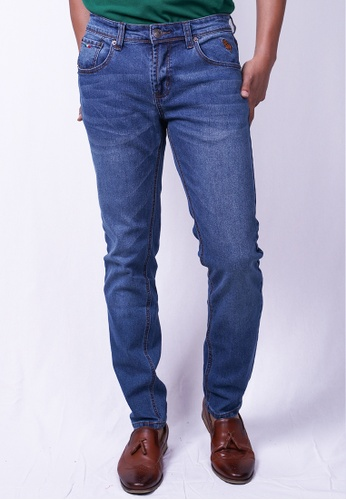 MILANO blue and navy Milano Jeans Long Pants Tight Fit Stretchable 13F89AA88B79F3GS_1