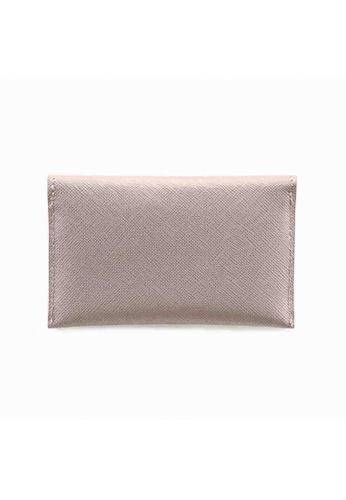 Crudo Leather Craft beige Senz'altro Name Card Holder - Saffiano Nude BC41DACDE1BAD0GS_1