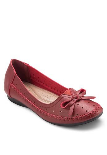 蝴蝶結沖孔平底鞋, 女鞋, esprit分店芭蕾平底鞋