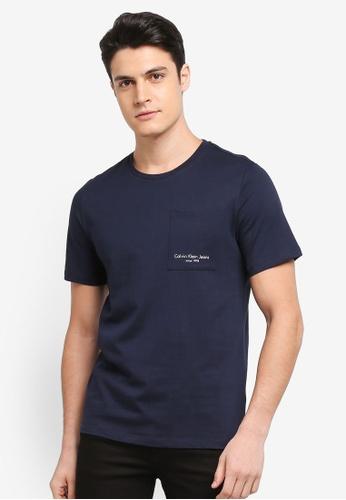 Calvin Klein navy Talb Tee - Calvin Klein Jeans 6F9FEAAD73020BGS_1