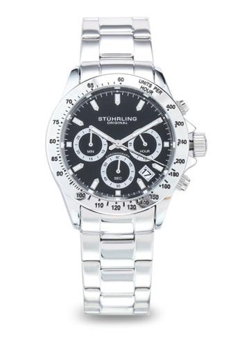 Stuhrling Original silver Monaco 3960 Watch DE9E8AC2CE56BFGS_1
