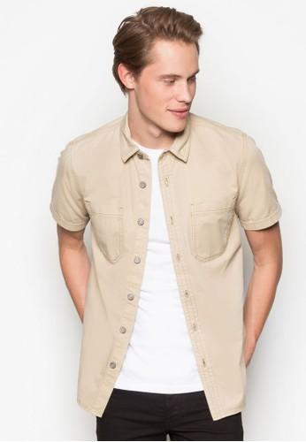 休閒丹寧短袖襯衫, 服飾, esprit 價位襯衫