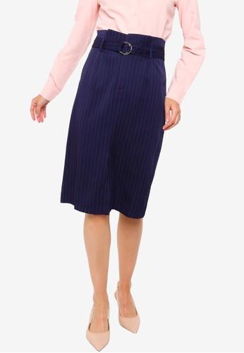 ZALORA WORK navy Ring Buckle Skirt CC972AA8107F26GS_1