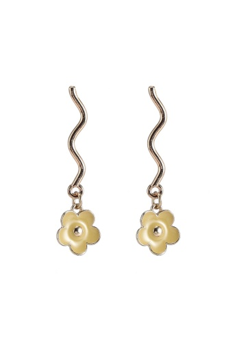 Saturation multi Flower Wave Earring 4E53BACADB73BBGS_1