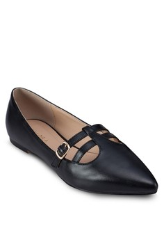 Double Strap Pointed Ballerinas
