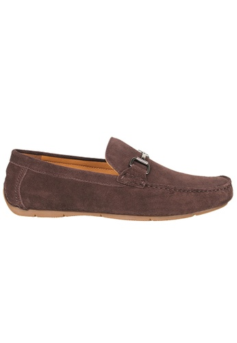 Tomaz brown Tomaz C338 Front Buckled Suede Loafers (Coffee) A974FSHCA3B395GS_1