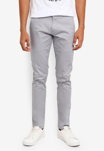 Fidelio grey 424 Slim Fit Chino Pants 16E3DAAE7B12EFGS_1
