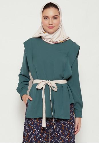 SUQMA green Adya Blouse BE026AADF7B5C1GS_1