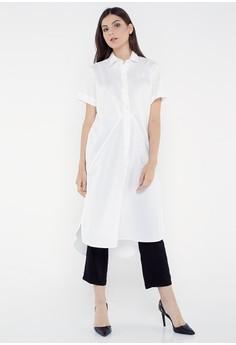 baad854bd6b5 REE white Effortless Slit Shirt - Broken White F77CCAA0B9BF2AGS 1