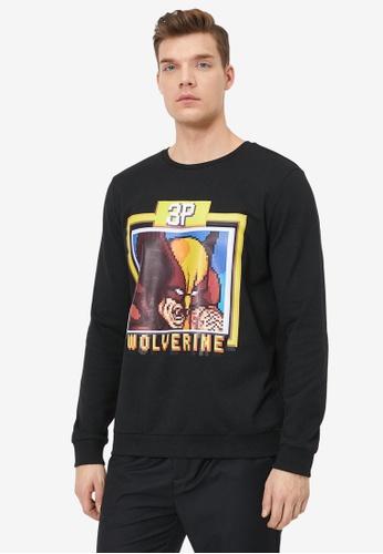 KOTON black Marvel Licenced Sweatshirt BE7B6AA518A568GS_1