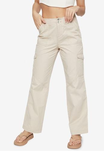 Supre beige Kiara Mid Rise Cargo Pants 44E3DAAA72BEB8GS_1