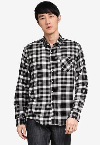 Fidelio black Plaid Flannel Long Sleeves Shirt 92ED1AABC6A069GS_1