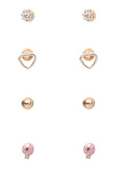 Lady Bug Earring Set