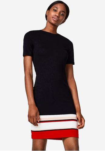 ESPRIT black Knitted Midi Dress 5A09BAAB74D804GS_1