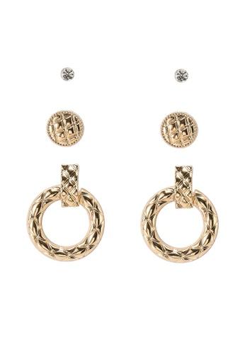 ALDO gold Onalema Pierced Earrings B2C03ACF65AB71GS_1