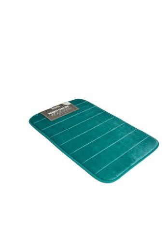 HOUZE HOUZE - Memory Foam Mat (Dim: 60x40x1.2cm) - Turquoise C0816HL99FCDA8GS_1