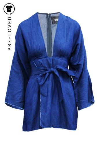 Reformation multi Pre-Loved reformation Denim Long Sleeve Mini Dress A35D4AAE1B323FGS_1