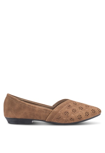 Louis Cuppers brown Perforated Flats LO977SH32BDVMY_1