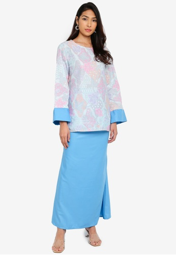 Baju Kurung Heliza from NOOR ARFA in Blue