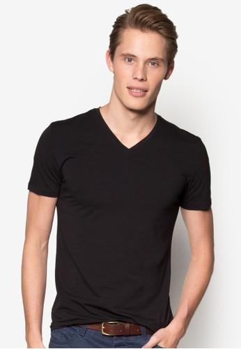 修身V 領棉質T 恤、 服飾、 服飾ESPRIT修身V領棉質T恤最新折價