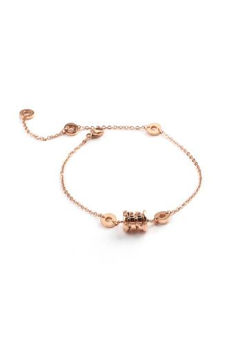 CELOVIS gold CELOVIS - Bernadette Spring Roman Numeric Classic Rose Gold Bracelet 37C10AC95EF0A8GS_1