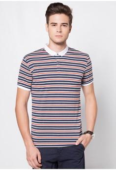 Striped Polo Tee
