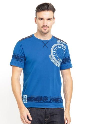 LGS blue and multi LGS - Slim Fit - Kaos Fashion - Gambar Sablon - Biru 911EBAAE7A756AGS_1