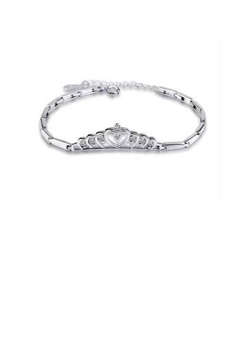 Glamorousky white 925 Sterling Silver Crown Bracelet with Austrian Element Crystal A37B7AC897A07CGS_1