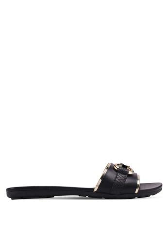 ALDO black Chaodia Flat Sandals 0EE3ESH6321AC9GS_1