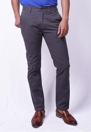 MILANO grey Milano Chino Long Pants Straight 36EDBAADF4ECBBGS_1