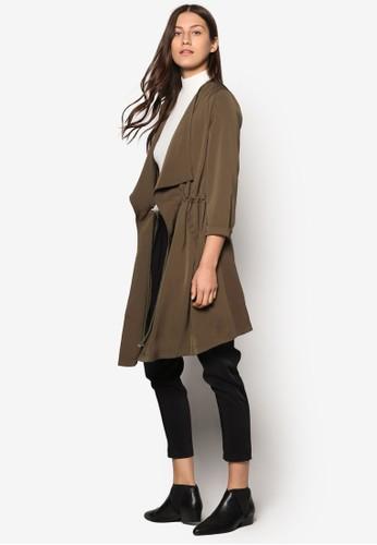 Collection 流水式長版外套、 服飾、 夾克 & 大衣ZALORACollection流水式長版外套最新折價