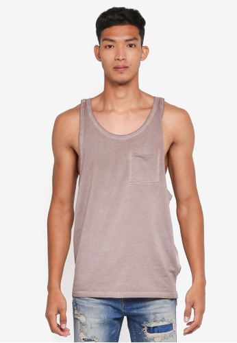 Only & Sons brown Sawyer Sleeveless Top 190BCAA4C31AA1GS_1
