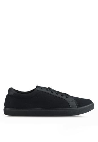 Penshoppe black Canvas Sneakers 4FDC8SH5802268GS_1