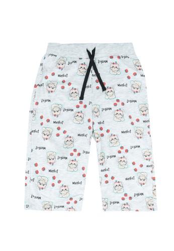 LC Waikiki grey Girl's Figured Cotton Shorts 7FB4BKAF410CE3GS_1